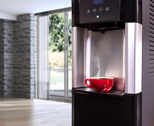 make a coffee with a pure water using a wonder water unit