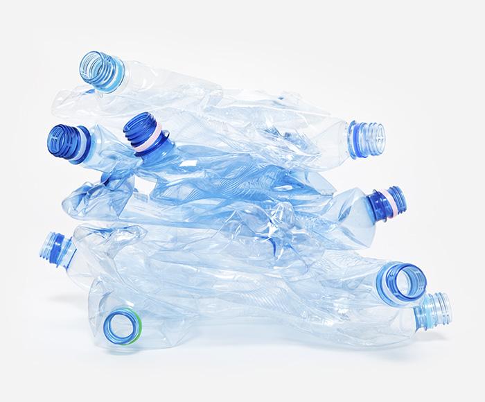 Environment used plastic bottles